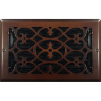 6 x 10 Victorian Oil Rubbed Bronze Plated Register