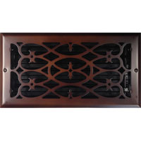 6 x 12 Victorian Oil Rubbed Bronze Plated Register