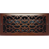 6 x 14 Victorian Oil Rubbed Bronze Plated Register