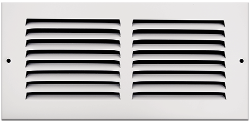 10 X 4 Stamped Steel Return Air Grille - White
