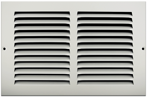 10 X 6 Stamped Steel Return Air Grille - White