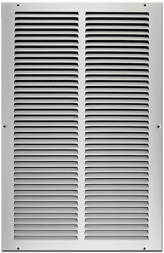 12 X 24 Stamped Steel Return Air Grille - White