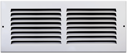 12 X 4 Stamped Steel Return Air Grille - White
