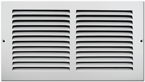 12 X 6 Stamped Steel Return Air Grille - White