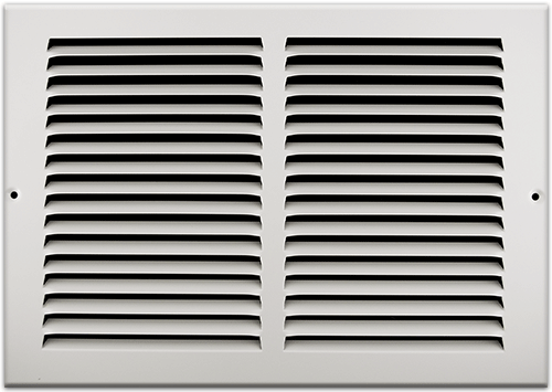 12 X 8 Stamped Steel Return Air Grille - White