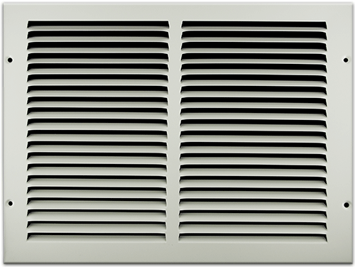 14 X 10 Stamped Steel Return Air Grille - White