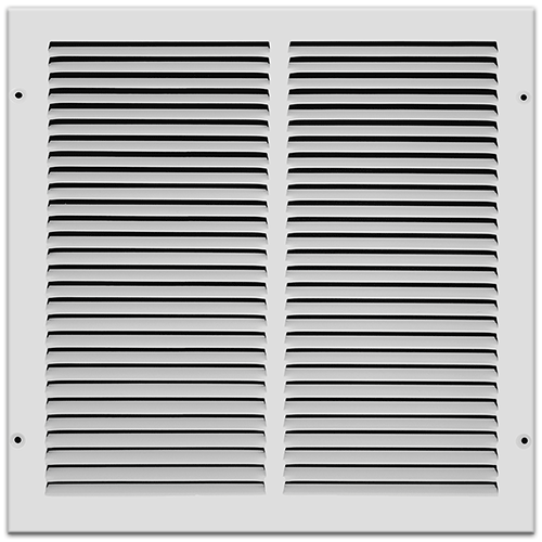 14 X 14 Stamped Steel Return Air Grille - White