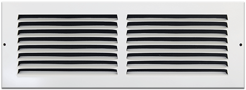 14 X 4 Stamped Steel Return Air Grille - White