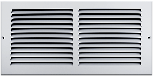 14 X 6 Stamped Steel Return Air Grille - White