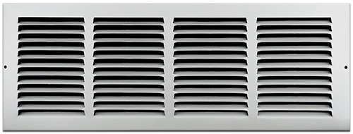 20 X 6 Stamped Steel Return Air Grille - White