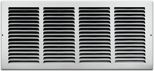 20 x 8 Stamped Steel Return Air Grille - White