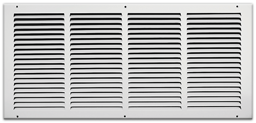 24 X 10 Stamped Steel Return Air Grille - White