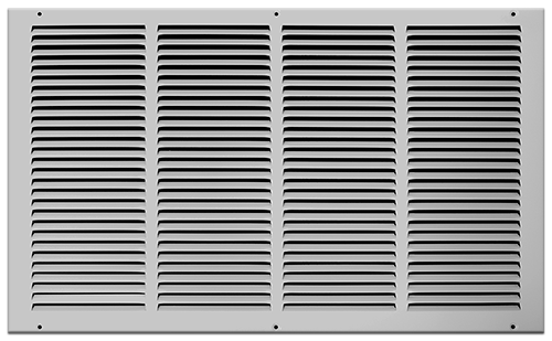 24 X 14 Stamped Steel Return Air Grille - White