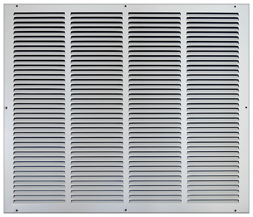 24 X 20 Stamped Steel Return Air Grille - White