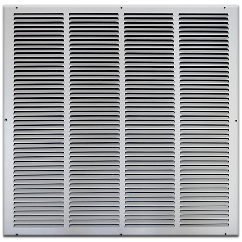 24 X 24 Stamped Steel Return Air Grille - White