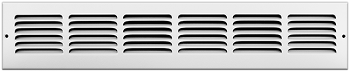 24 x 4 Stamped Steel Return Air Grille - White