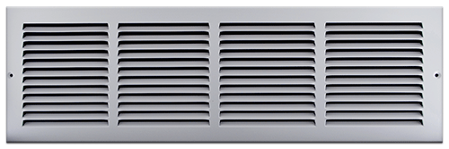 24 X 6 Stamped Steel Return Air Grille - White