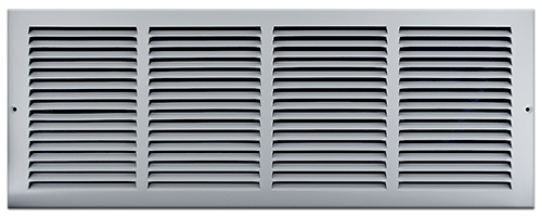 24 X 8 Stamped Steel Return Air Grille - White