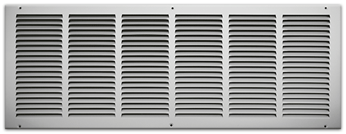 30 X 10 Stamped Steel Return Air Grille - White