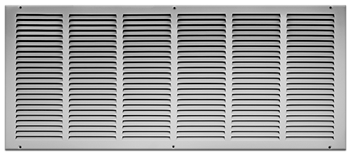 30 X 12 Stamped Steel Return Air Grille - White