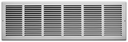 30 X 8 Stamped Steel Return Air Grille - White