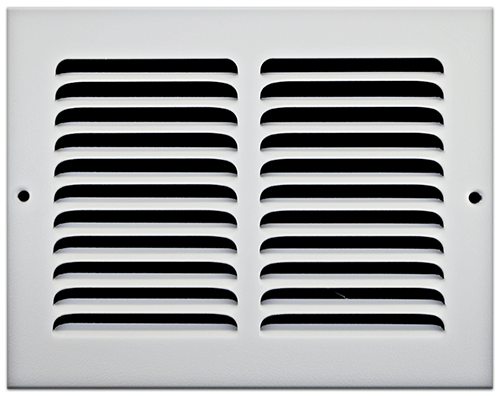 8 X 6 Stamped Steel Return Air Grille - White