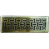2.25x10 Wicker Antique Brass Floor Register