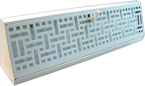 18 Inch Wicker Baseboard Register - White