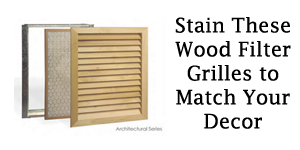 Unfinished Wood Filter Grilles