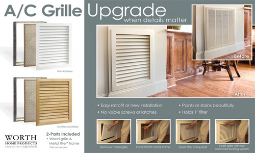 Wood Return Air Grill Wall Vent Covers