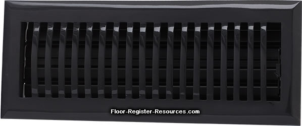 Zoroufy 4 X 10 Classic Floor Register - Antique Black