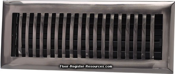Zoroufy 4 X 10 Classic Floor Register - Antique Pewter