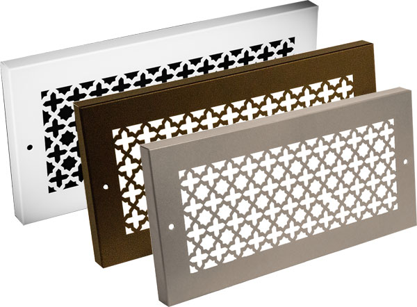 Steel Crest Baseboard Grille Victorian Style