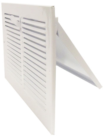 8 x 6 Stamped Steel Sidewall Register - White