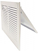 8 x 4 Stamped Steel Sidewall Register - White