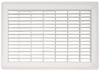 White Floor Return Air Grilles