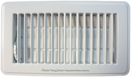 White Vent Cover 3 X 10 Floor Register