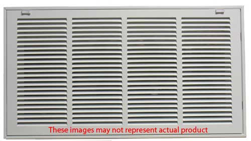 14 x 14 White Steel Return Air Filter Grill