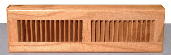 Zoroufy 18 Inch Red Oak Wood Baseboard Diffuser - Natural Finish