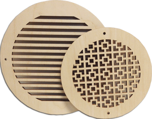 Round Air Vents Wood Return Air Grill