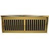 2 x 12 Plastic Contemporary Polished Brass Register