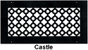 Steel Crest Round Wall Register Castle Style