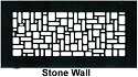 Steel Crest Floor Register Stone Wall Style