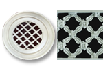 Round Resin Grill Gregorian Cross Pattern