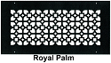 Steel Crest Round Wall Register Royal Palm Style