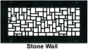 Steel Crest Round Wall Register Stone Wall Style