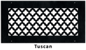 Gold Series Round Wall Grill Tuscan Style
