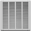 16 X 16 Stamped Steel Return Air Grille - White