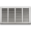 20 X 10 Stamped Steel Return Air Grille - White