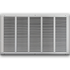 25 X 14 Stamped Steel Return Air Grille - White